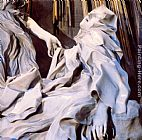 Famous Saint Paintings - The Ecstasy of Saint Teresa [detail]